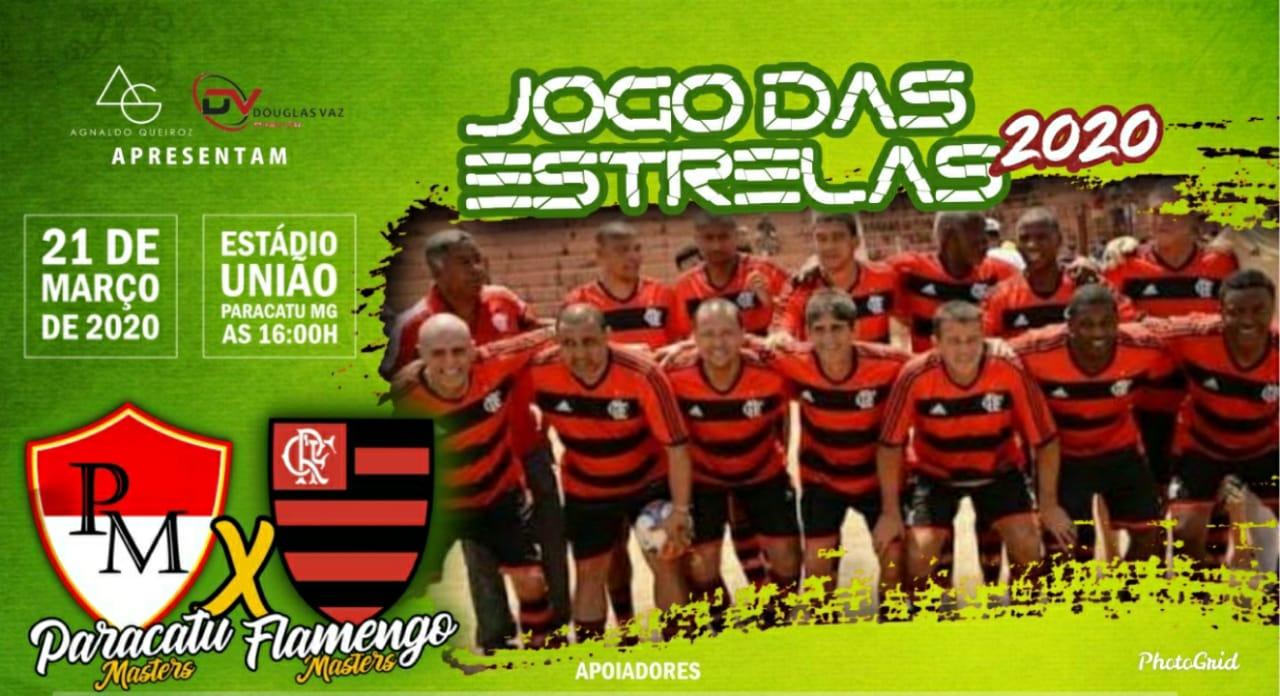 Não Percam dia 21 de Março 2020 ás 15:30 horas no Estádio Frei Norberto Paracatu Máster x Máster do Flamengo.