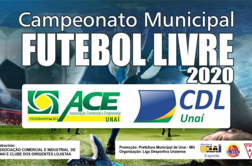 Vem ai o Campeonato Municipal de Futebol Categoria Livre de Unaí Temporada 2020.