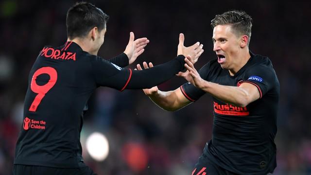 Atlético de Madrid vira na prorrogação e elimina o atual campeão Liverpool em Anfield.