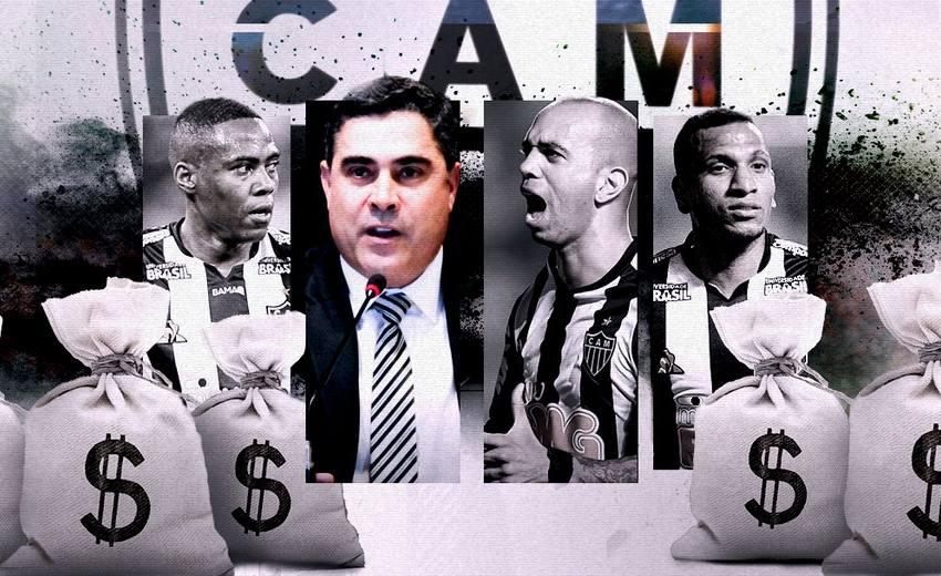 """Gestão Sette Câmara bate R$ 60 milhões pagos em """"dívidas Fifa"""" no Atlético-MG; veja detalhamento."""
