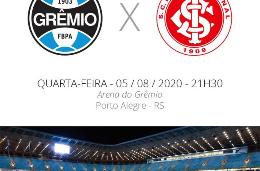Grêmio x Inter: veja como assistir, escalações, desfalques e arbitragem.