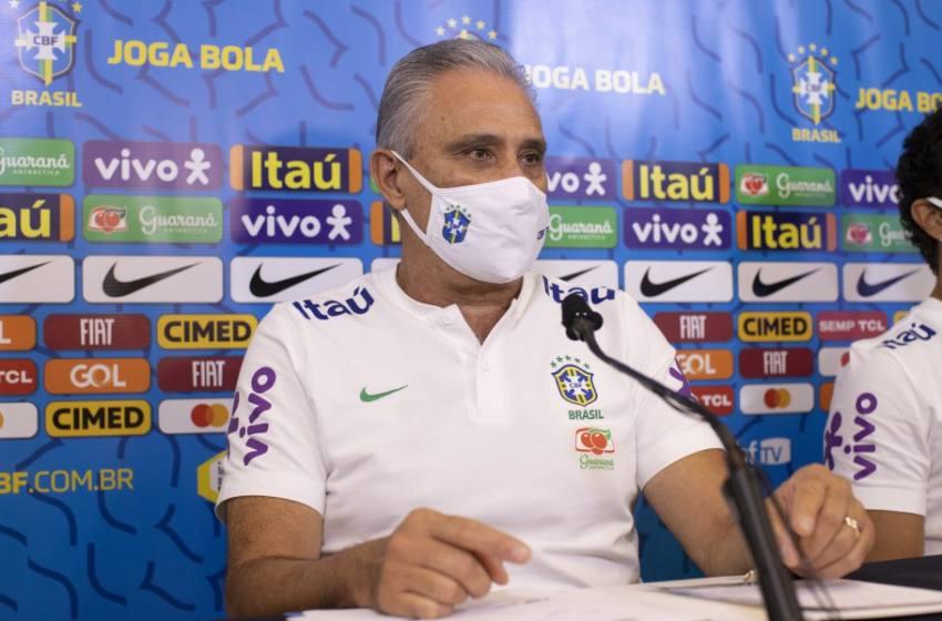 Tite antecipa Weverton e Douglas Luiz como titulares e projeta Brasil x Bolívia.