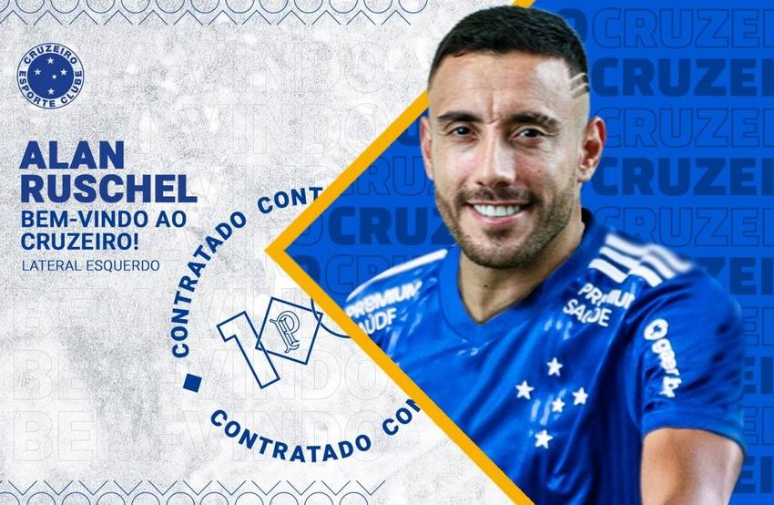 Cruzeiro oficializa a contratação do lateral Alan Ruschel por duas temporadas.