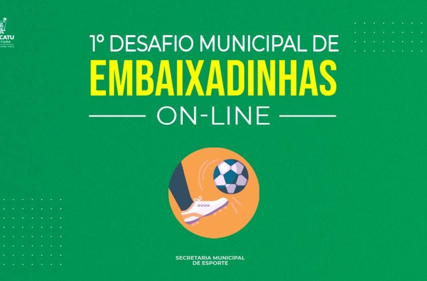 Secretária de Esporte promove Desafio de Embaixadinha Online.