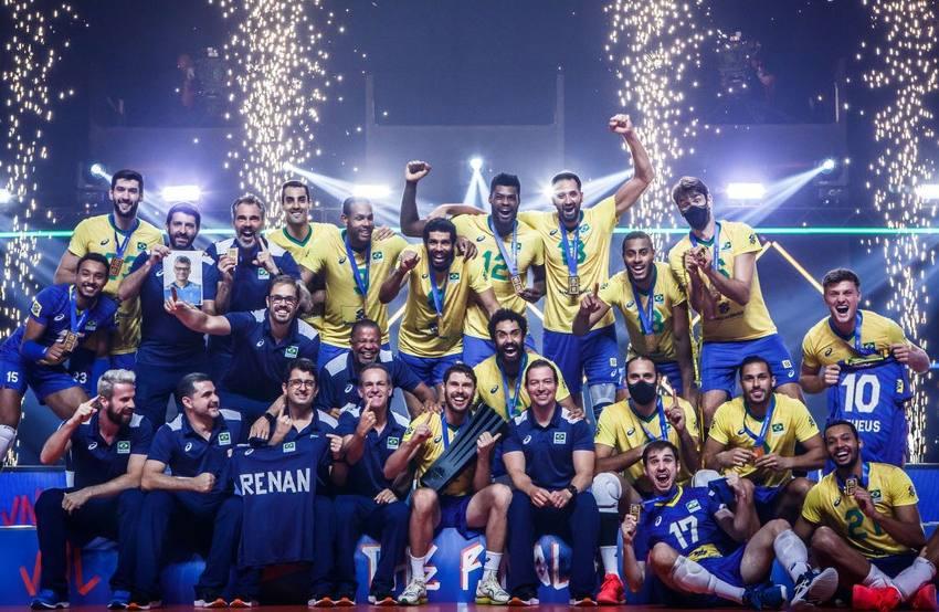 Brasil se impõe, derruba Polônia e é campeão da Liga das Nações.