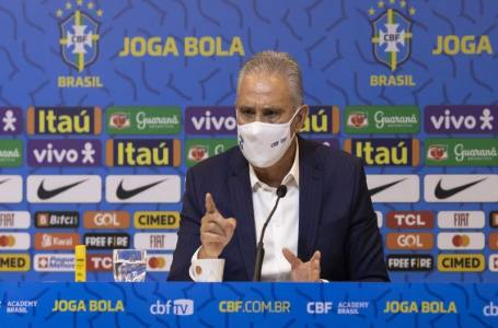 """Tite faz apelo a presidente da CBF e Juninho: """"Pode armar amistoso com qualquer seleção europeia""""."""