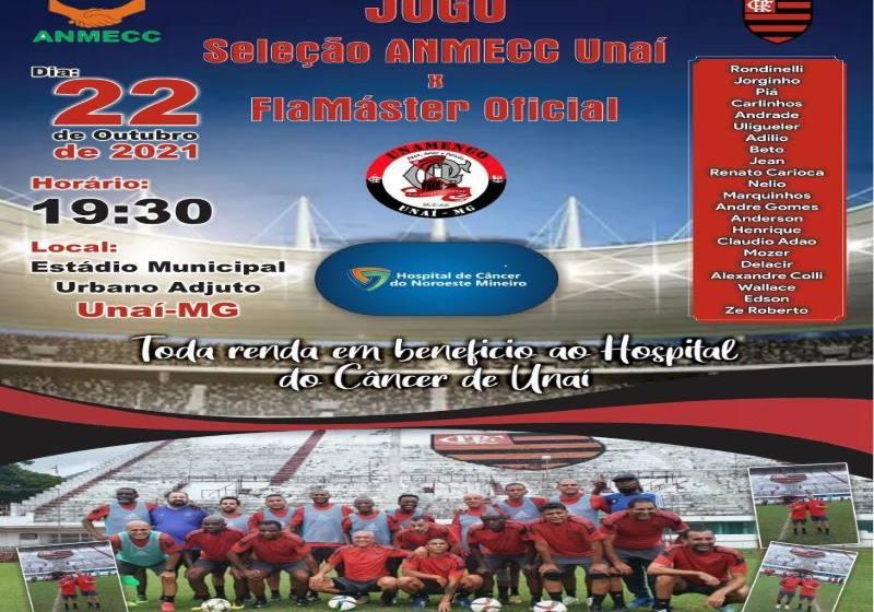 Não Percam dia 22 de Outubro o Jogo  Solidário entre A N M E CC e Máster Oficial do Flamengo.