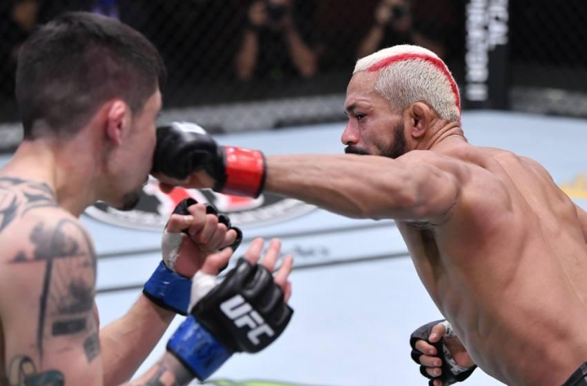"""Deiveson embolsa R$ 253 mil extras no UFC com bônus de """"luta da noite"""" em duelo com Moreno."""