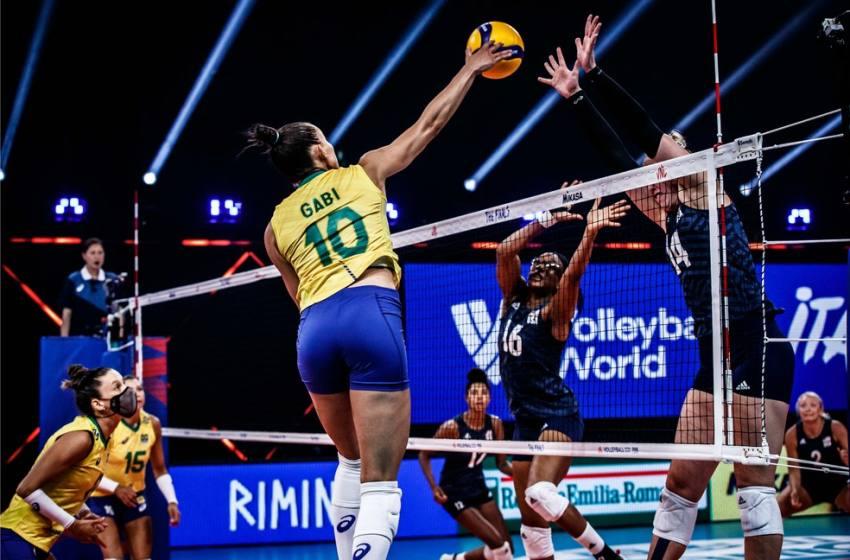 Brasil luta, mas cai para EUA e fica com vice na Liga das Nações.