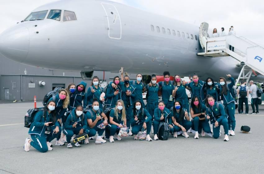Seleção Feminina embarca rumo a Tóquio para a disputa dos Jogos Olímpicos.